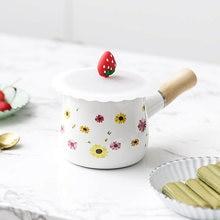 Мини эмалированная кастрюля с плитой для молока кофейное масло