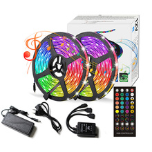 LED Lights With Music Timing Function 40-key Infrared 5050RGB Waterproof 5m10m For Festive Background Decoration