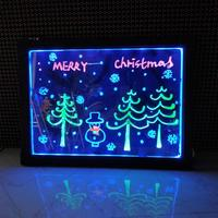 3D Magic Drawing Pad Children Toys Led Writing Board Erasable Neon Light Fluorescent Plate Creative Art Writing Pad Kids Toy