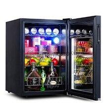 Холодильник, холодильная установка 62L винные холодильники прозрачная стеклянная дверь чай и напитки морозильные камеры-5to10 градусов C для порции еды шкаф