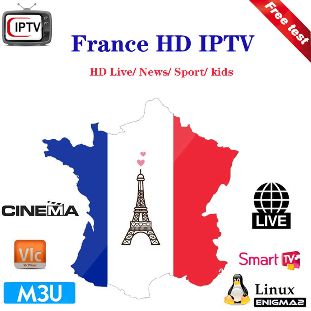 IPTV French Europe  M3u subscription 1/3/6/12 month Bexn Mult sport Live kids support TV Box Smart IPTV Samarters Android E2 MAG