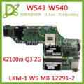 KEFU k2100m Q3 2G W8P HM87 00HW114 Lenovo ThinkPad W541 W540 motherboard LKM 1 WS MB 12291 2 100% test OK kostenloser versand-in Laptop-Hauptplatine aus Computer und Büro bei