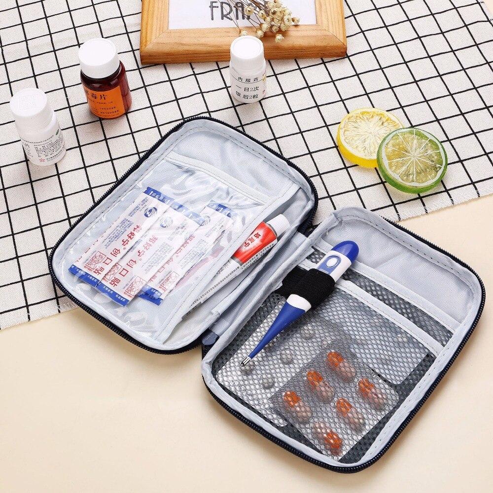Mini Outdoor First Aid Kit Portable Travel Drug Kit Emergency Kit Small Drug Separator Storage Bag