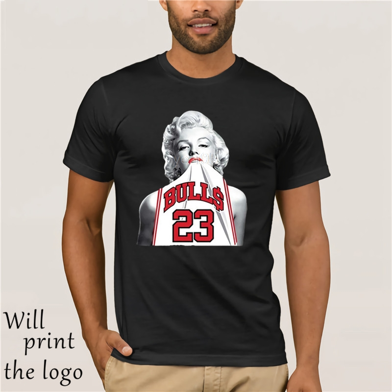NEW Fashion 3D Print T-shirt Hot Marilyn Monroe Bite Chicago Bulls Men