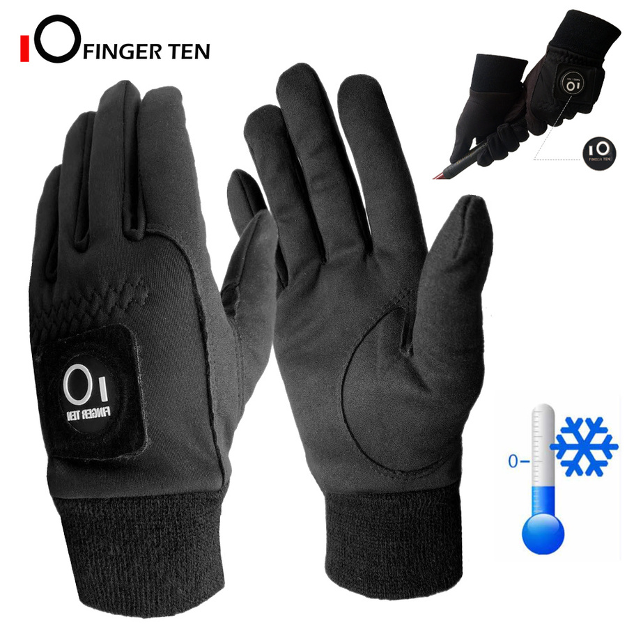 1 Pair Winter Cold Weather Warm Golf Gloves Men with Ball Marker Grip Windproof Waterproof Mittens Golf 1