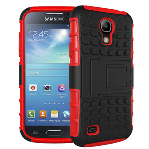 For Samsung Galaxy S4 i9500 S10 S10E S9 Phone Case Dual Layer Kickstand Heavy Duty Armor Shockproof Hybrid Silicone Cover Case