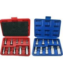New 10 piece set 12 degree chrome vanadium steel pressure batch sleeve head mechanical repair auto home work tools