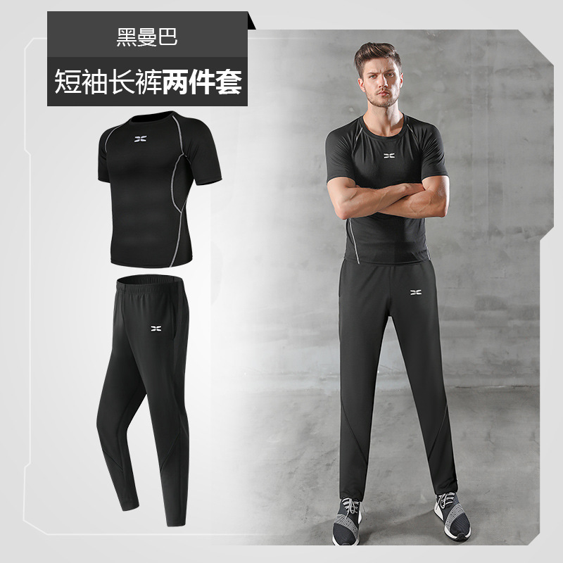 2019 Motion Suit Male Leisure Time Loose Motion Trousers Even Hat Run Motion Loose Coat Outdoors Morning Jogging Twinset