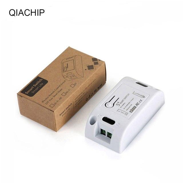 QIACHIP 433MHz AC 110V 220V 1 CH RF Relais Empfänger Modul Universal Wireless Fernbedienung Schalter Für LED Licht Lampen Fans DIY
