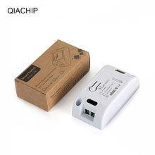QIACHIP 433MHz ca 110V 220V 1 CH RF relais récepteur Module universel sans fil télécommande commutateur pour lampes de lumière LED ventilateurs bricolage