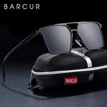 BARCUR Original Minimalist Aluminium Square Sunglasses Men P