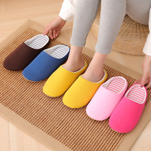 Women Winter Home Slippers Plush Shoes Non-slip Soft Mute Warm House Slippers Indoor Couples Comfortable Cotton Floor Flat diji girls soft coral velvet floor home indoor slippers quiet cotton fluffy slippers for women comfortable shoes black