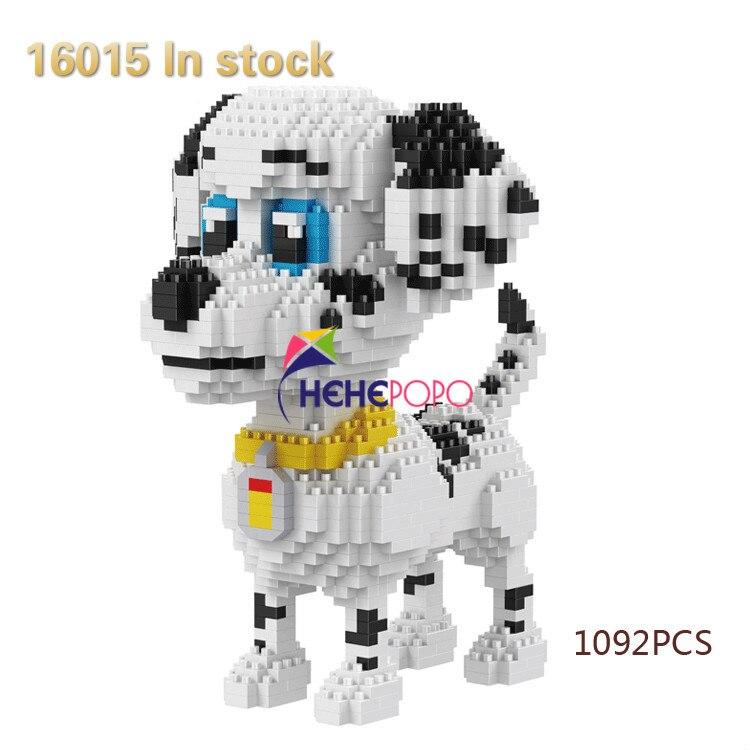 2100pcs 16013-16024 Diamond Blocks Dog Model Small Bricks Dachshund Toy AssemBly Action Figure Kids Toys Children Gifts