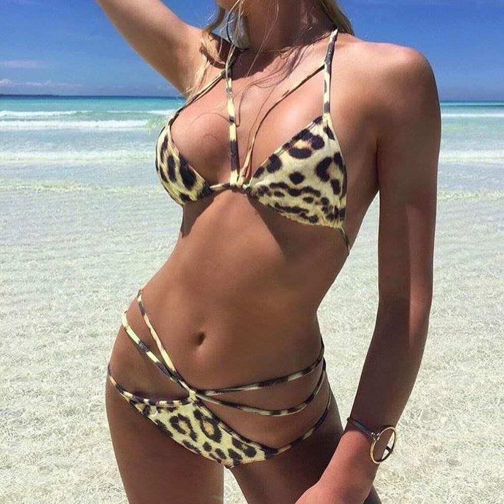 Factory direct sales Women's Bikini Print Set Swimsuit Two Piece Filled Bra Swimwear Beachwear Are you sure not to buy it?  2020 2