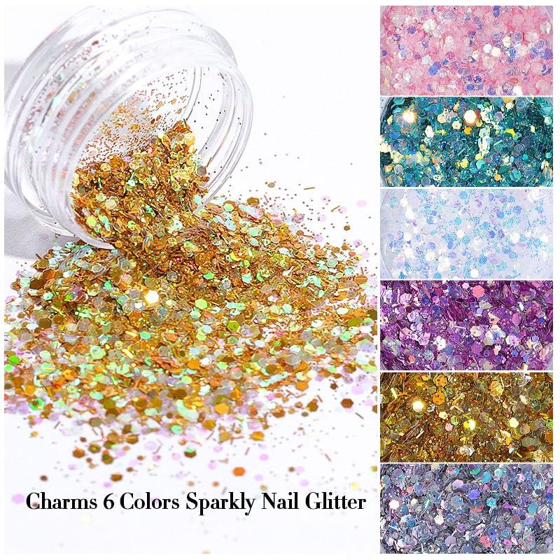 Nail Art Lantejoula Cromos Pigmento THJ99