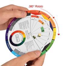 Профессиональная татуировка ногтей макияж Пигмент татуировки смешивание двенадцати цветов колесо бумага карта Руководство Круглый 360 ° центральный поворот
