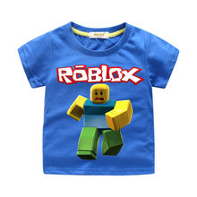 New Products Children Short Sleeve Pure Cotton T-shirt Baby 3D Printed Roblox Tops Men And Women Children round Neck Shirt Summe(China)