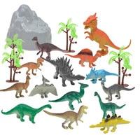 19pcs/lot Dinosaur World Tyrannosaurus Therizinosaurus Spinosaurus Action Figures Jurassic Dinosaurs Model Toys For Children