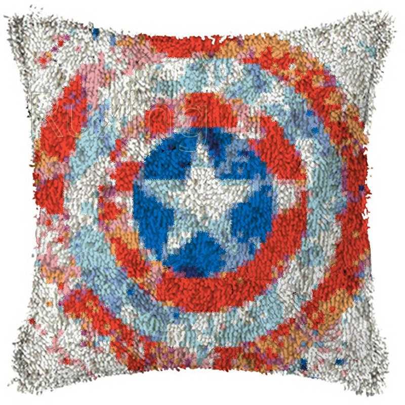 Diy Latch Hook Rug Kits Captain Yarn Cushion Carpet Cover Floor Mat 3d Cartoon Flower Sewing Needlework For Adults Kids Gift Aliexpress