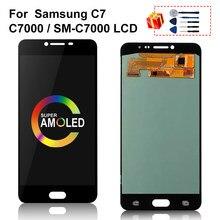 Écran tactile LCD AMOLED de remplacement, pour Samsung Galaxy C7 C7000