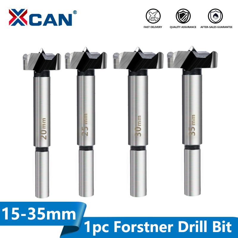 XCAN 1pc 15/20/25/30/35mm Wood Drill Bit Self Centering Hole Saw Cutter Wood Hole Drilling Tools Forstner Drill Bit