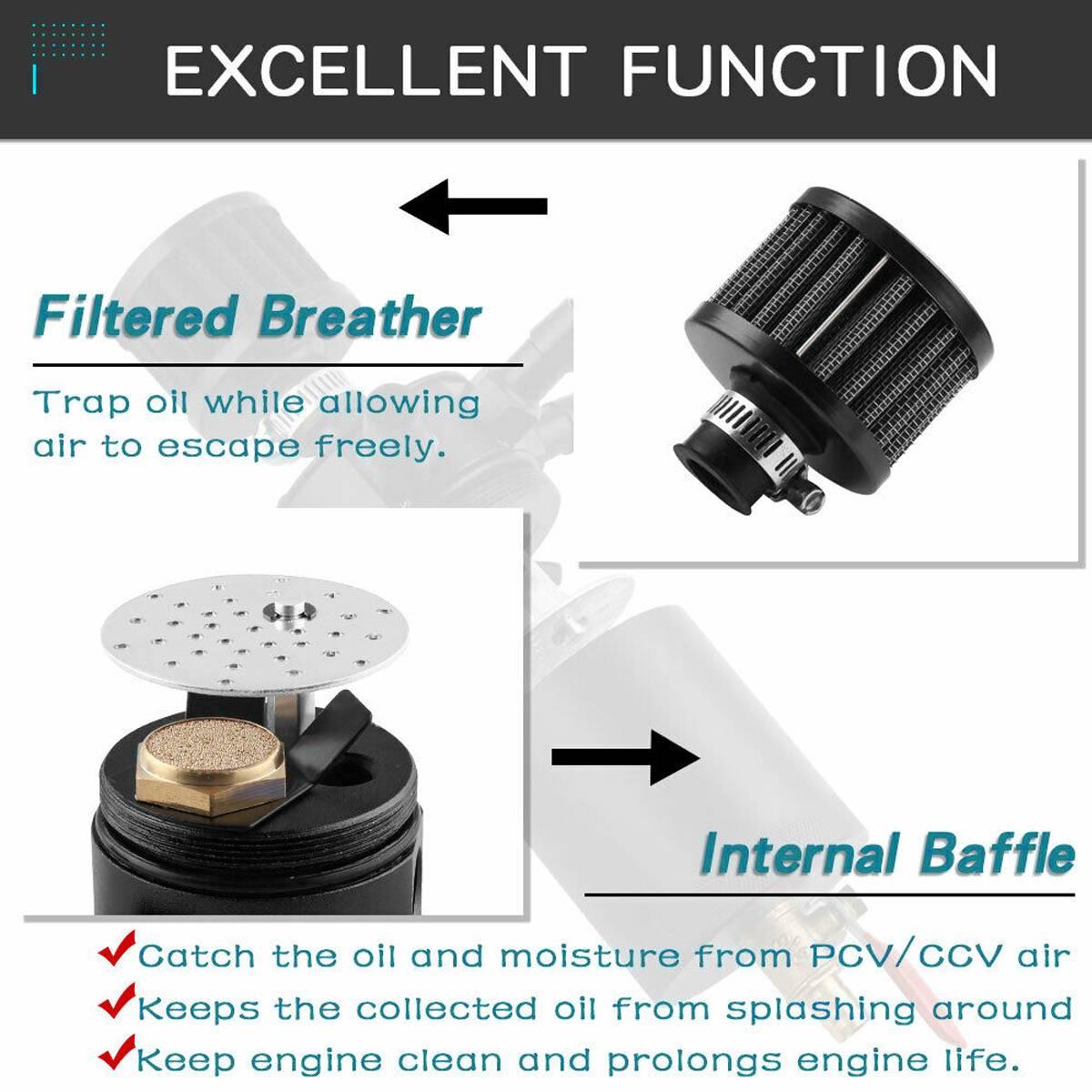drenagem, filtro de couro compacto, baffled, de