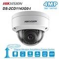 Hikvision 4MP купольная POE ip-камера для дома/улицы, фиксированная камера наблюдения ночного видения ONVIF H.265 IP67 DS-2CD1143G0-I