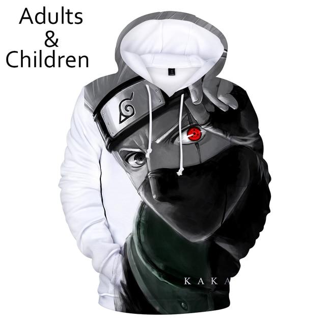 3D Personality Hoodies Men Boys Sweatshirt Harajuku Kids Hooded Autumn Winter Pullovers Kakash Hip Hop Child Tracksuits 4