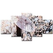 5 панелей зрелые цветы Красивая женщина домашний Декор Картина