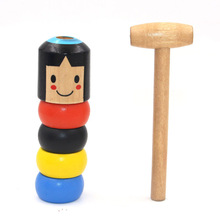 Immortal Daruma Unbreakable Wooden Man Magic Toy Funny Wooden Puzzle Doll Unique