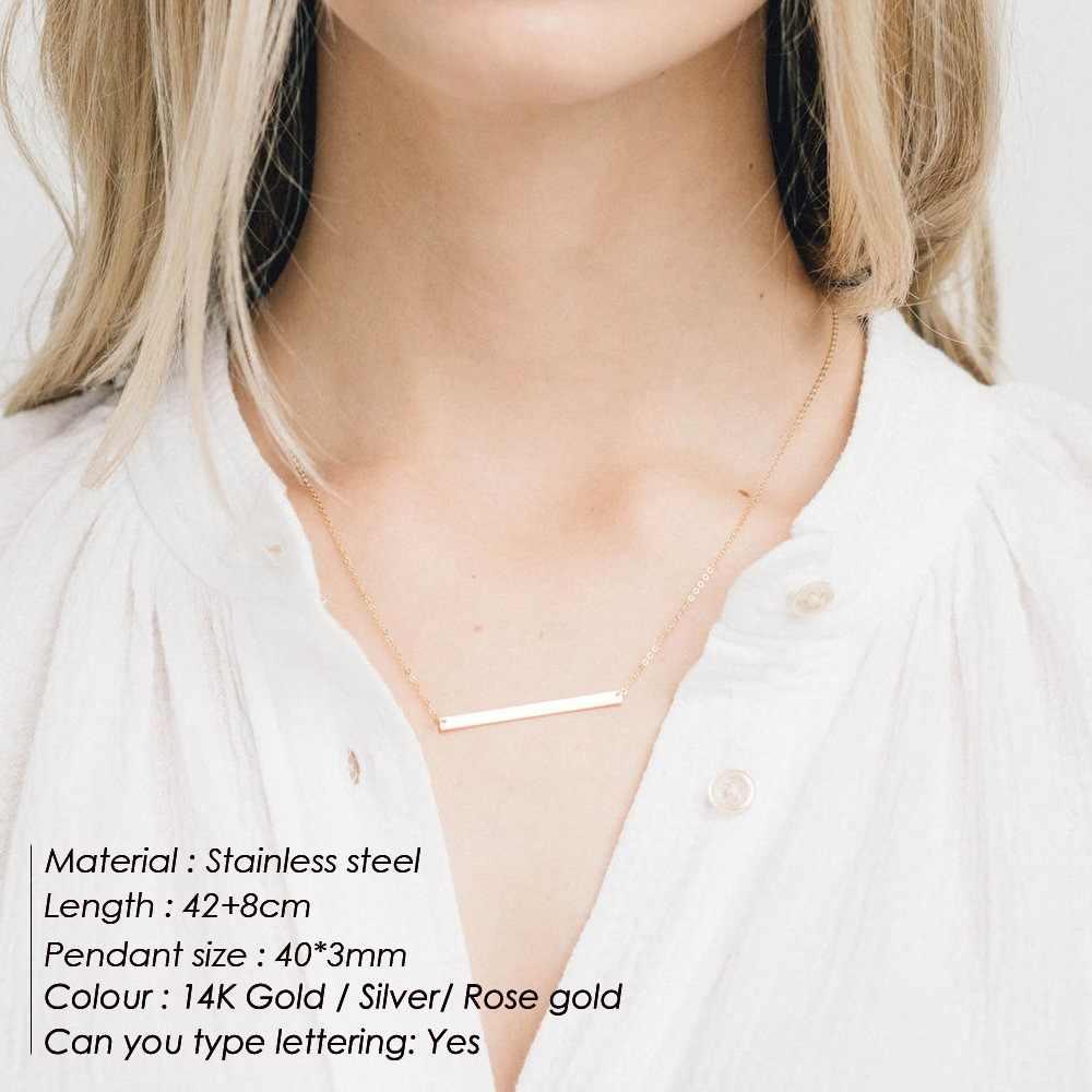 ゴールド、カスタマーネックレス女性シルバーステンレス鋼のペンダントロングチェーンネックレスチョーカー親友カップルギフトファッションジュエリー