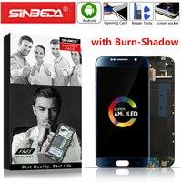 """Cep telefonları ve Telekomünikasyon Ürünleri'ten Cep Telefonu LCD'leri'de 5.1 """"AMOLED SAMSUNG S6 G920 G920F lcd ekran dokunmatik ekran digitizer ile çerçeve montajı Samsung Galaxy S6 ekran G920F"""