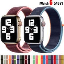 Pasek na pasek do Apple Watch 44mm 40mm 42mm 38mm Smartwatch pasek do zegarka Sport Nylon pętli pasek bransoletka iWatch seria 3 4 5 SE 6 tanie tanio CN (pochodzenie) 22 cm Paski do zegarków Nowa z metkami for i watch series 5 4 3 2 1 hook-and-loop Accessories for aple aplle applewatch 40 42 38 44 mm
