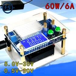 Повышающий Модуль источника питания понижающий преобразователь 60 Вт высокомощный Регулируемый ЖК-дисплей с вентилятором и акриловой обол...