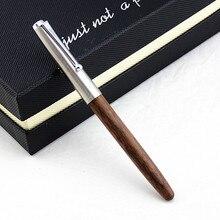 Деревянная перьевая ручка JINHAO 51A, стальная крышка, совершенно новая чернильная ручка 0,38 мм/0,5 мм