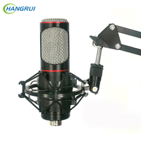 Hangrui Professional Metal Condenser Microphone Kits Podcast Streaming Voice Studio Mic For Youtube Skype Gaming Recording