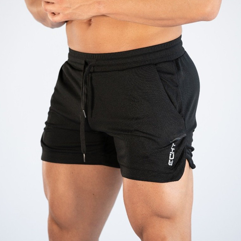 Summer men's   shorts   fitness running gym people bodybuilding leisure jogging training quick-drying new men's lace-up pants fashio