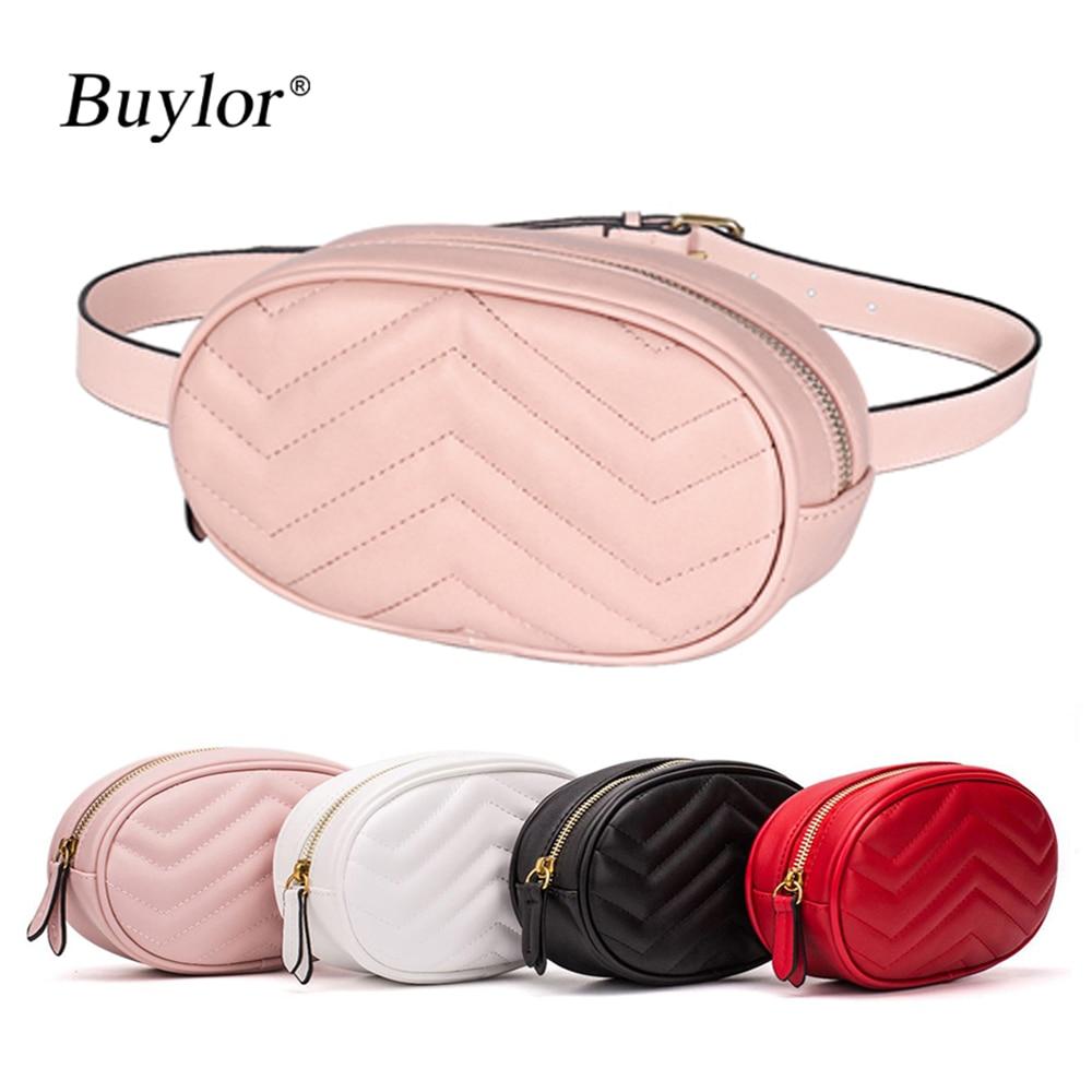 Buylor Waist Pack For Women Fanny Pack Designer Belt Bag Fashion Chest Bag  Girls Cute Easy Phone Pocket PU Leather Hot Bumbag