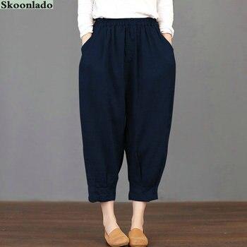 newest women cotton linen pants plus size 5XL oversize good quality lady pants clothes casual oversea original famous design цена 2017