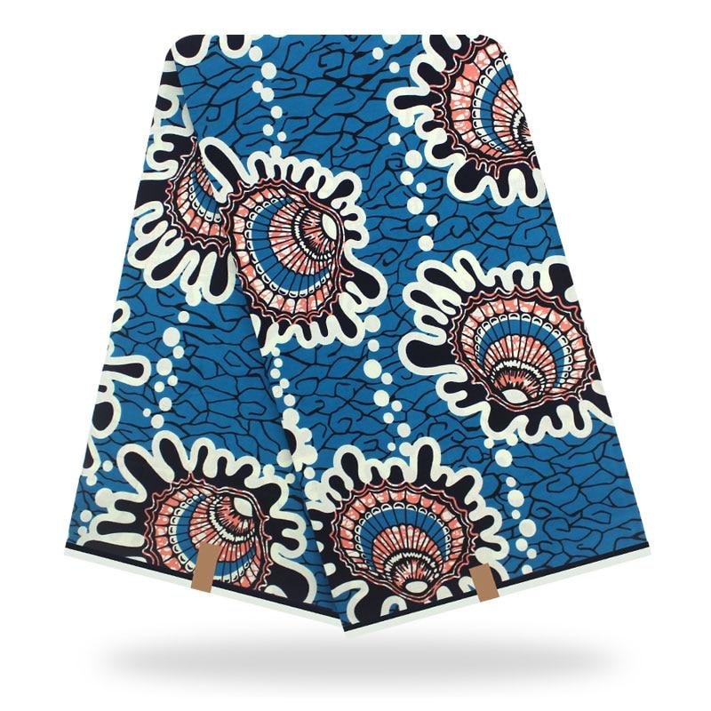 African Wax Fabric High Quality Cotton Material Ankara Fabric Sewing Veritable Dutch Real Dutch Wax 6yard For Dress
