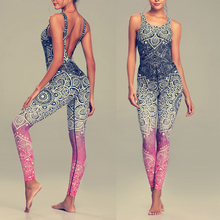 Women Yoga Sets Fitness 3D Mandala Print Tracksuit Sexy Gym Wear Running Clothing Sportswear Workout Elastic Sport Suits,ZF242