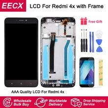 Redmi 4X ekran orijinal modülü için Xiaomi Redmi 4X çerçeve ile LCD ekran ekran dokunmatik Panel digitizer çerçeve montaj