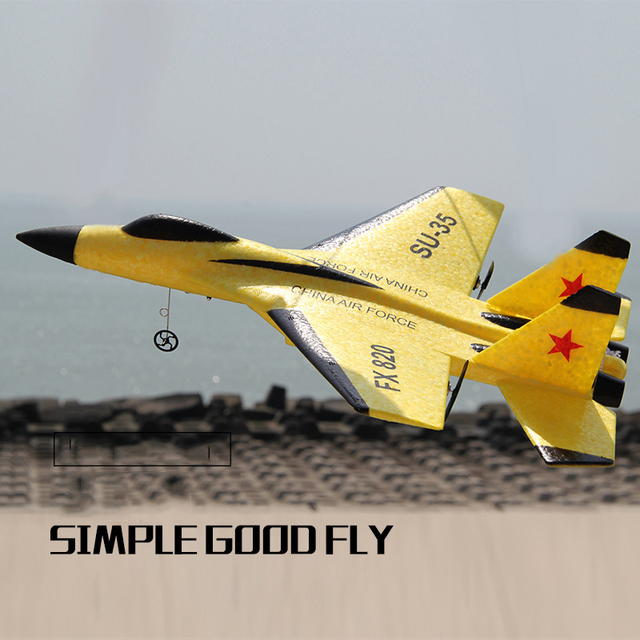 New SU-35 RC Remote Control Airplane 2.4G Remote Control Fighter Hobby Plane Glider Airplane EPP Foam Toys RC Plane Kids Gift 4