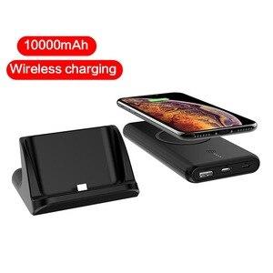 10000 мАч 10 Вт Быстрое Qi Беспроводное зарядное устройство для iPhone Xiaomi Samsung внешняя батарея беспроводная Быстрая зарядка Powerbank