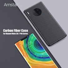 Amstar Real Carbon Fiber Telefoon Case Ultra Dunne Anti Fall Pure Carbon Fiber Cover Case Voor Huawei P40 30 20 Pro Mate30 20 Pro