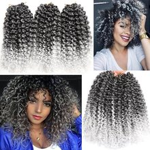 marlybob crochet hair afro kinky curly hair crochet braids curly wave crochet braiding hair synthetic hair extension Jerry Curl cheap smart braid Low Temperature Fiber CN(Origin) Marley Braids 20strands pack Ombre