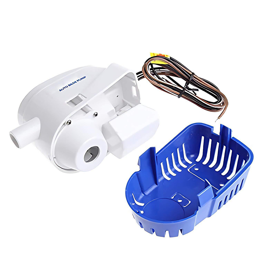 Portable Fishing Bilge Pump Submersible Boat Houseboat Fully Automatic Motor Durable Accessories Yacht With Float Switch Water