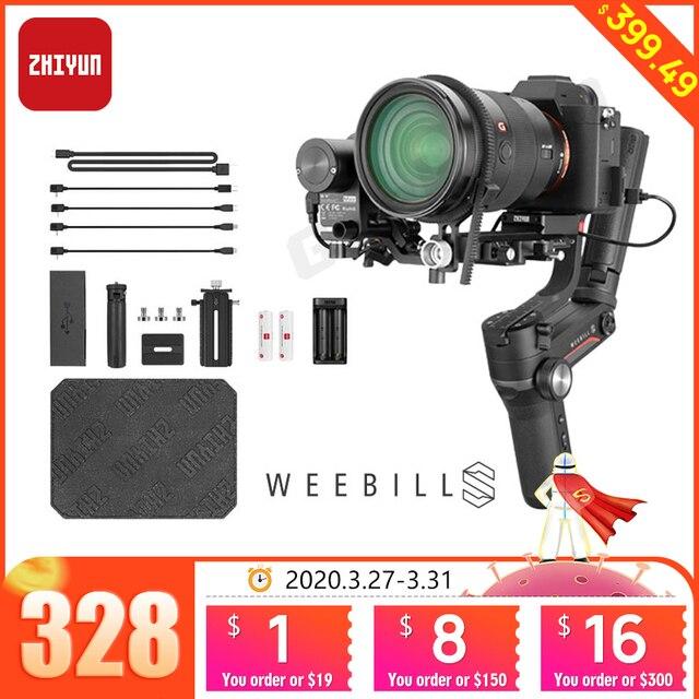 Zhiyun WEEBILL S 3 stabilizator osi dla Sony Panasonic GH5s bez lustra aparatu ręczny Gimbal z kontroli ostrości pk DJI Ronin sc