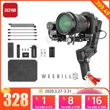 Zhiyun weelei s estabilizador de 3 eixos, para câmera sony panasonic gh5s, espelhante, gimbal de mão, com controle de foco, pk dji ronin sc