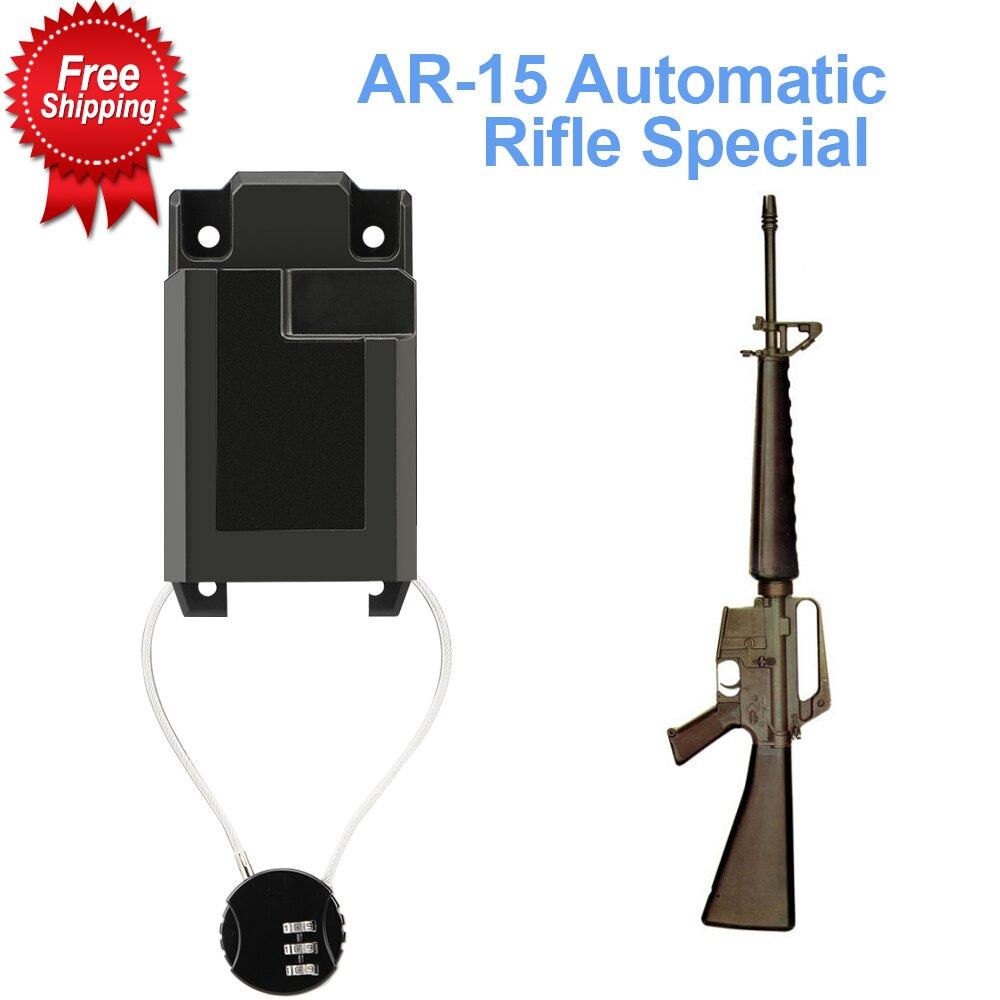 Настенное крепление AR-15 с проводным замком, крепление из твердого АБС-пластика на стену и демонстрационную винтовку, безопасная настенная с...